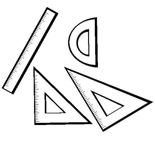 Desenho de Réguas para Colorir