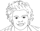 Dibujo de Retrato do Harry Styles