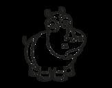 Desenho de Rinoceronte-branco para colorear