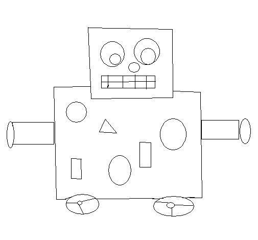 Desenho de Robô para Colorir