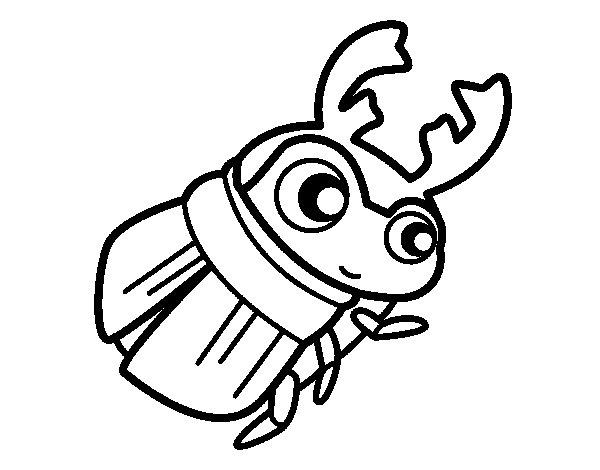Desenho de Rola-bosta para Colorir