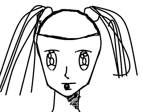Desenho De Rosto De Menina Com Tranças Para Colorir