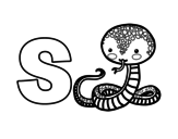 Dibujo de S de Serpente
