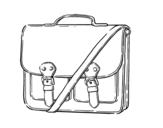 Desenho de Saco messenger para colorear