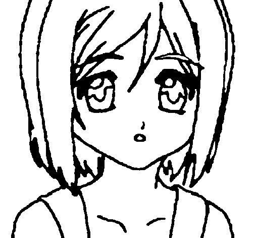 Desenho de Sakura 2 para Colorir