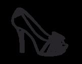 Dibujo de Sapato de plataforma com laço