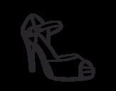 Dibujo de Sapato de salto aberto