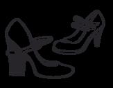 Desenho de Sapatos de calcanhar para colorear