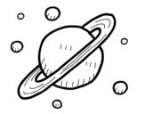 Dibujo de Satélites de Saturno