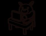 Desenho de Secretário para colorear