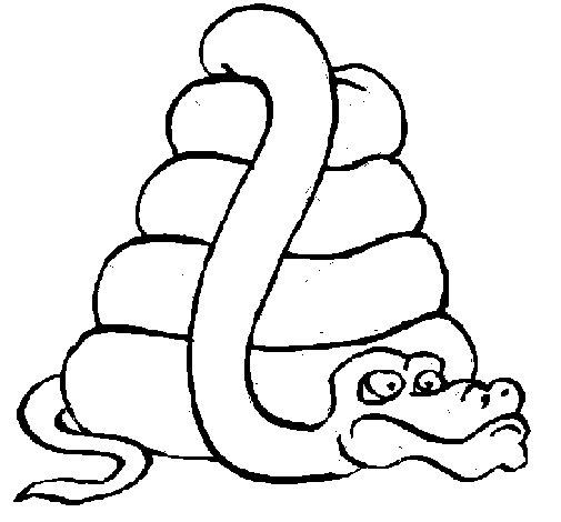 Desenho de Serpente grande para Colorir