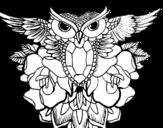 Desenho de Símbolo coruja para colorear