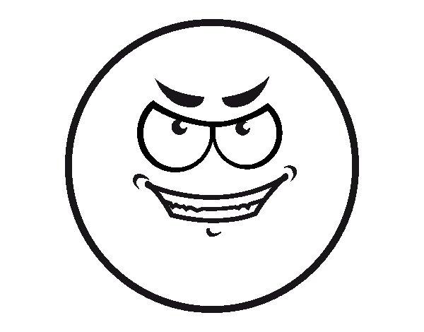 Desenho De Smiley Malvado Para Colorir