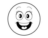 Desenho de Smiley para colorear