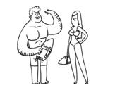 Dibujo de Socorristas