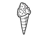Desenho de Sorvete com topping para colorear