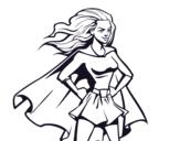 Desenho de Super girl para colorear