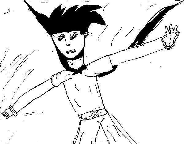 Desenho de Super guerreiro para Colorir