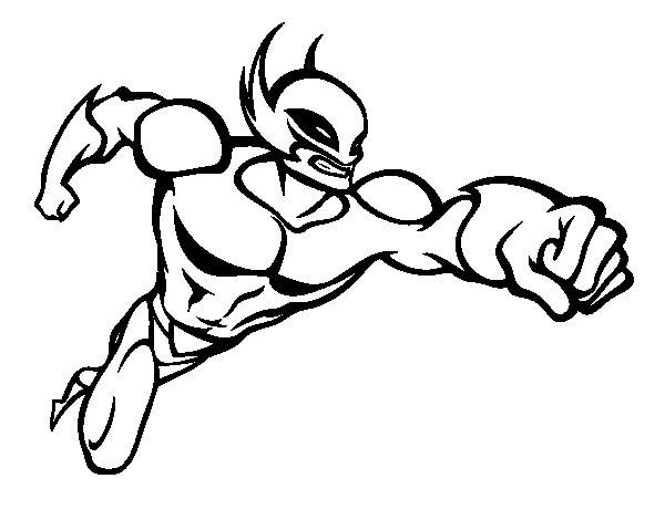 Desenho De Super-herói Sem Uma Capa Para Colorir