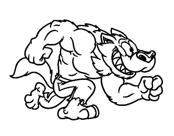 Desenho De Super Homem Lobo Para Colorir