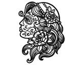 Dibujo de Tatuagem de Catrina