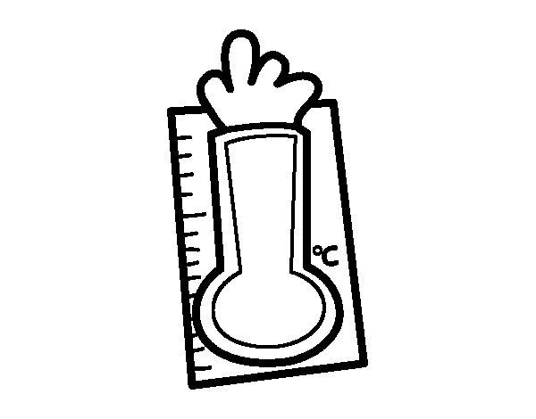 Desenho de Termômetro para Colorir