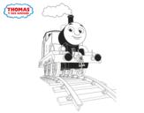 Desenho de Thomas em marcha para colorear