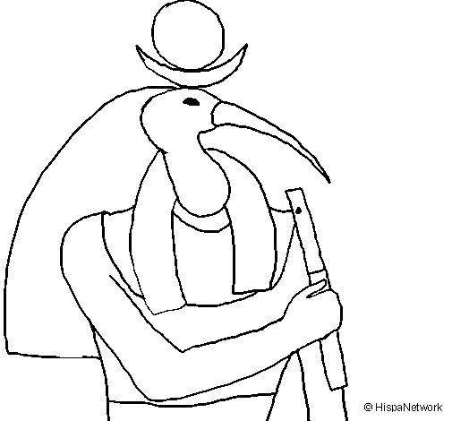 Desenho de Thot para Colorir