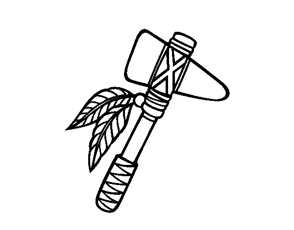 Desenho de Tomahawk para Colorir