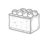 Desenho de Torta de mirtilo para colorear
