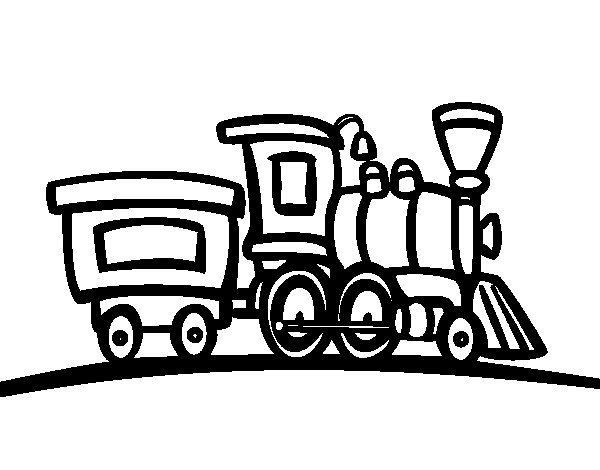 Desenho de Trem com vagão para Colorir