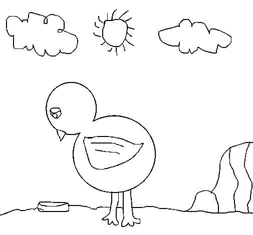 Desenho de Triste frango para Colorir