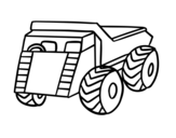 Desenho de Um caminhão de carga para colorear