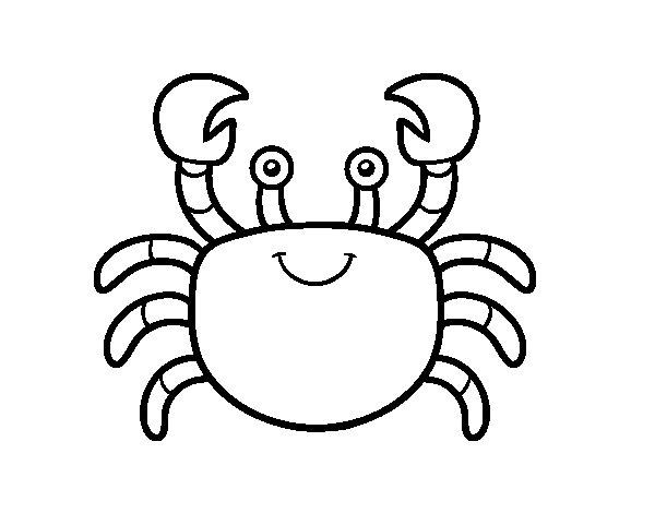Desenho de Um caranguejo de mar para Colorir