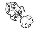 Desenho de Um foguete para colorear