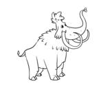 Desenho de Um Mamute para colorear