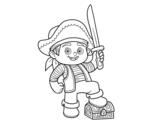 Desenho de Um menino do pirata para colorear