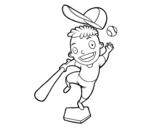 Dibujo de Um rebatedor de beisebol