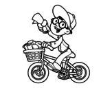 Dibujo de Um repartidor