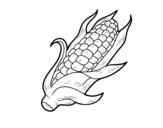 Desenho de Um sabugo de milho para colorear