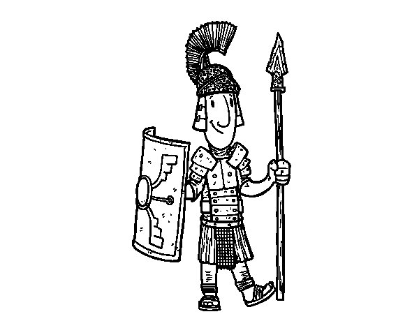 Desenho de Um soldado romano para Colorir