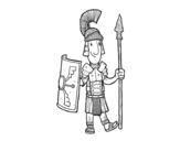 Desenho de Um soldado romano para colorear