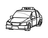 Desenho de Um táxi para colorear