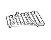 Desenho de Um xilofone para colorear