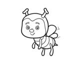 Desenho de Uma abelha para colorear