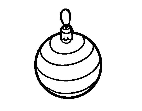 Desenho De Uma Bola Da árvore De Natal Para Colorir