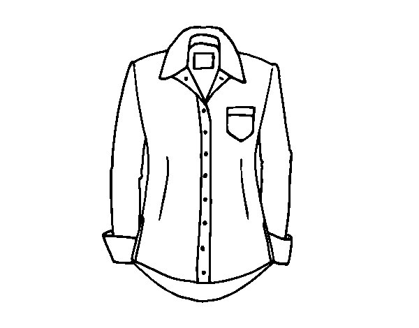 Desenho de Uma camisa para Colorir