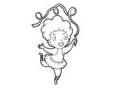 Desenho de Uma ginásta rítmica para colorear