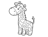 Desenho de Uma girafa para colorear