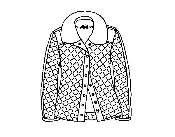 Desenho de Uma jaqueta para Colorir